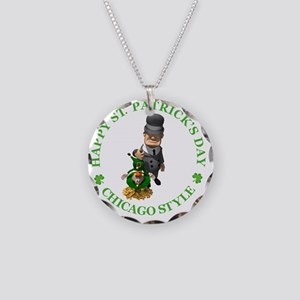 2-IRISH chicago style 2 copy Necklace Circle Charm