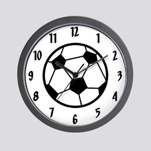 Soccer Room Decor Team Wall Clock