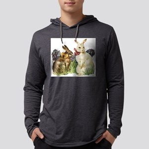 Easter rabbits Mens Hooded Shirt