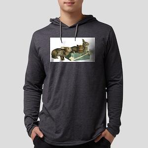 Bunny rabbits Mens Hooded Shirt