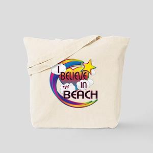 I Believe In The Beach Cute Believer Design Tote B