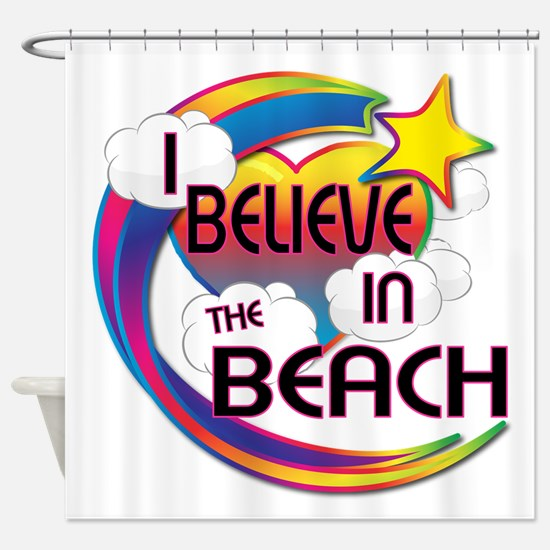 I Believe In The Beach Cute Believer Design Shower