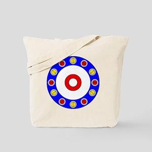 Curling Clock 8x8 Tote Bag