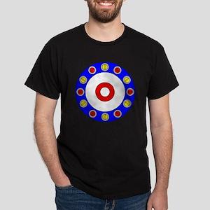 Curling Clock 8x8 Dark T-Shirt