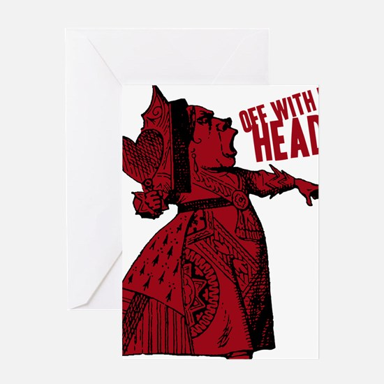 off-with-her-head-vintage_dark Greeting Card