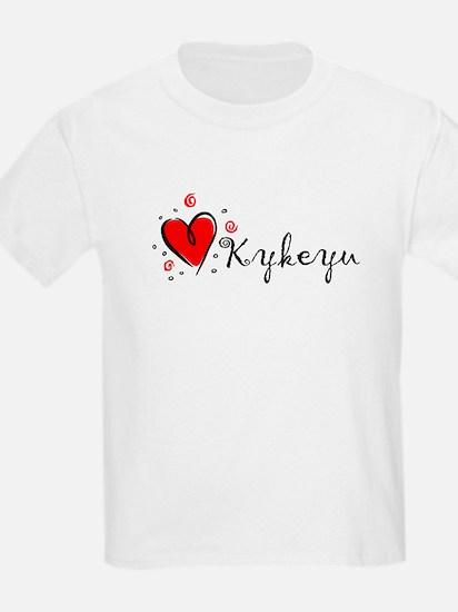 """I Love You"" [Cherokee] Kids T-Shirt"