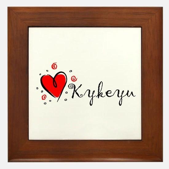"""""""I Love You"""" [Cherokee] Framed Tile"""