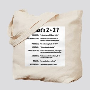 2 plus 2 Tote Bag