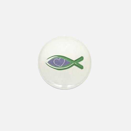 True Love Fish Mini Button