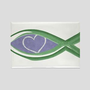 True Love Fish Rectangle Magnet