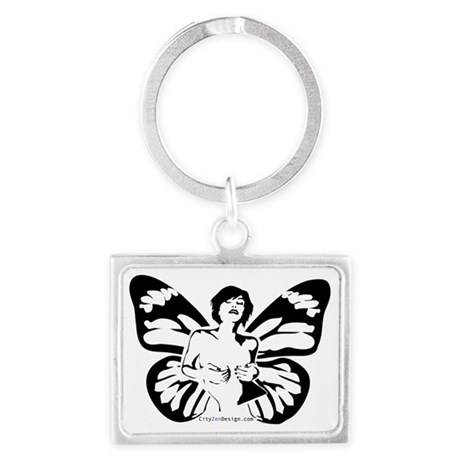 Madam-Butterfly Landscape Keychain