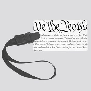 U.S.-Constitution-(white-shirt) Large Luggage Tag