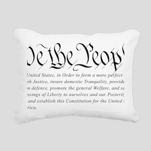 U.S.-Constitution-(white Rectangular Canvas Pillow