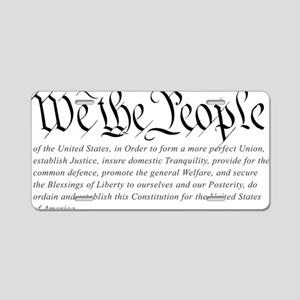 U.S.-Constitution-(white-sh Aluminum License Plate
