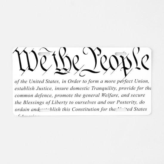 U.S.-Constitution-(white-sh Aluminum License Plate