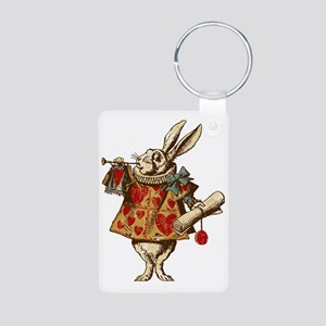 white-rabbit-vintage_tr Aluminum Photo Keychain