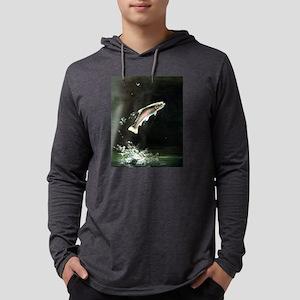 rainbow-trout-fish-jumping Mens Hooded Shirt