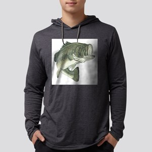 large mouth bass Mens Hooded Shirt