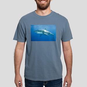 Great white shark Mens Comfort Colors Shirt