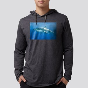 Great white shark Mens Hooded Shirt