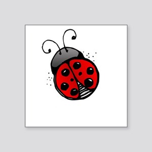 """Ladybug -dark Square Sticker 3"""" x 3"""""""