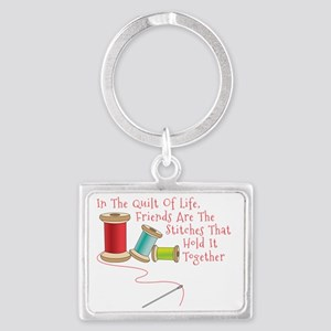 Quilt of Life Landscape Keychain
