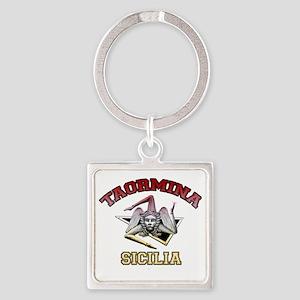 taormina_t_shirt_varsity Square Keychain