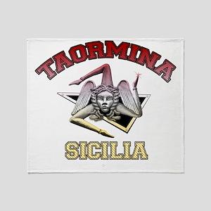 taormina_t_shirt_varsity Throw Blanket