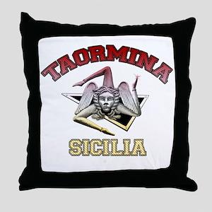 taormina_t_shirt_varsity Throw Pillow