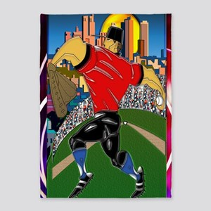 Baseball Pitcher Large Poster 23x35 5'x7'Area Rug