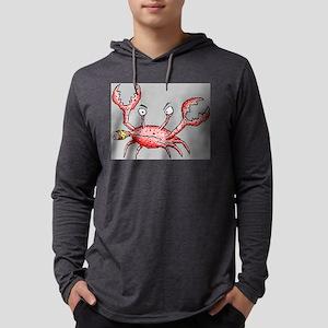 Crabby Crab Mens Hooded Shirt
