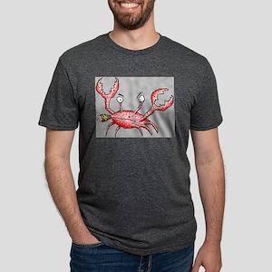 Crabby Crab Mens Tri-blend T-Shirt
