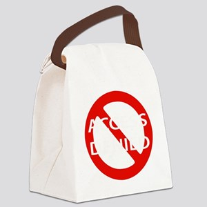 2-Access denied on black Canvas Lunch Bag