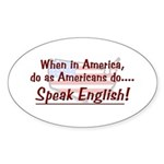 Do As Americans Oval Sticker
