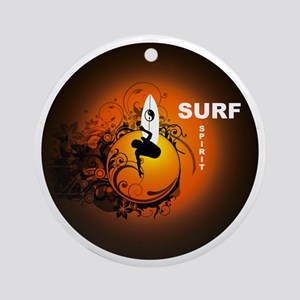 Surfspirit2 Round Ornament