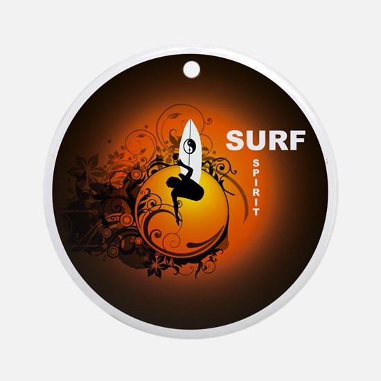 Surfspirit2 Round Ornament