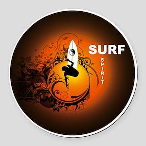 Surfspirit2 Round Car Magnet