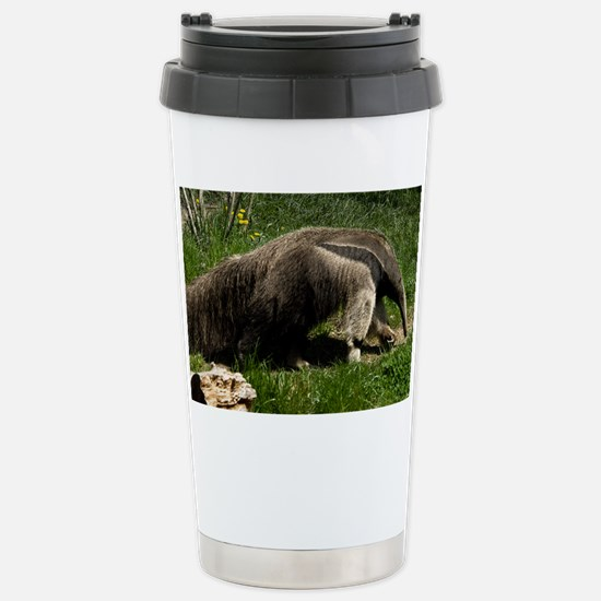 (2) Giant Anteater Stainless Steel Travel Mug