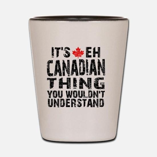 Canadian Thing -coaster Shot Glass