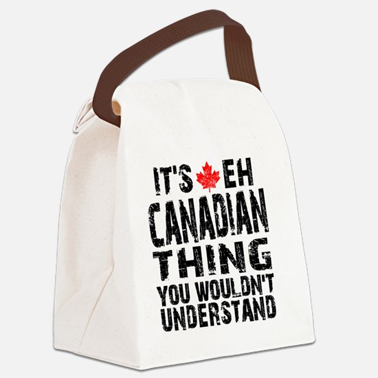 Canadian Thing -coaster Canvas Lunch Bag