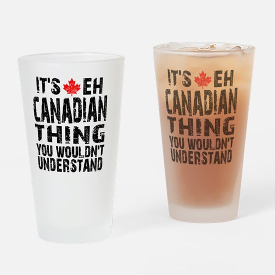 Canadian Thing -coaster Drinking Glass