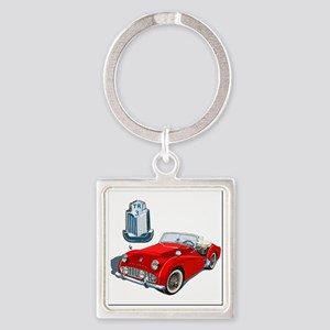 TR3-RED-4 Square Keychain