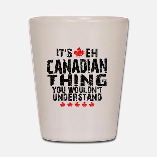 Canadian Button Shot Glass