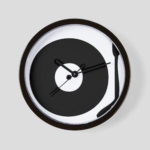 Vinyl Record Turntable Wall Clock