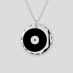 Vinyl Record Turntable Necklace Circle Charm