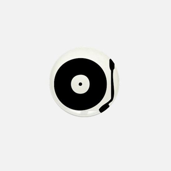 Vinyl Record Turntable Mini Button