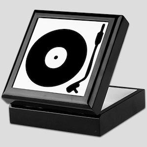 Vinyl Record Turntable Keepsake Box