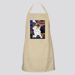 Cook with food tray large poster 23x35 edit Apron
