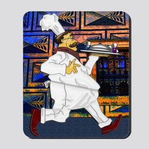 Cook with food tray notecard 4 5x5 75 ed Mousepad