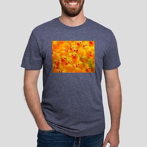 yellow rubber duckies Mens Tri-blend T-Shirt